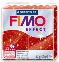 Fimo Soft Glitter Red 56g