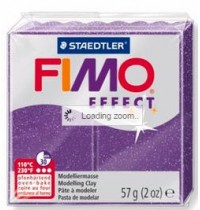 Fimo Soft Glitter Purple 56g