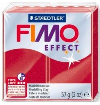 Fimo Soft Metallic Ruby Red *OUT OF STOCK*