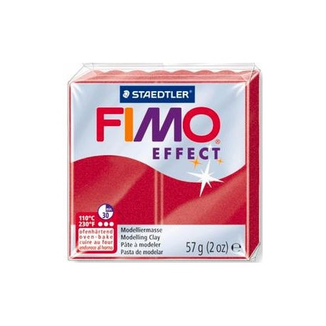 Fimo Soft Metallic Ruby Red