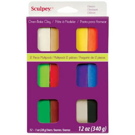 Sculpey Classic Multipack 12 Pieces