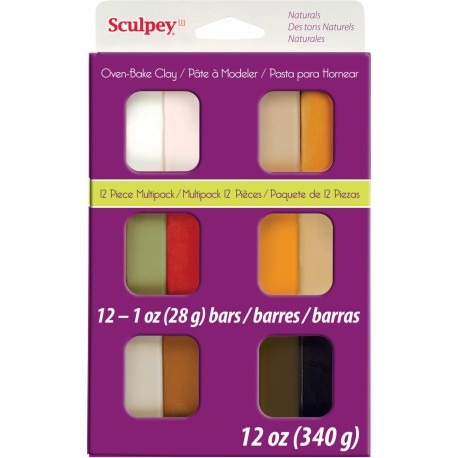Sculpey Natural Multipack 12 Pieces
