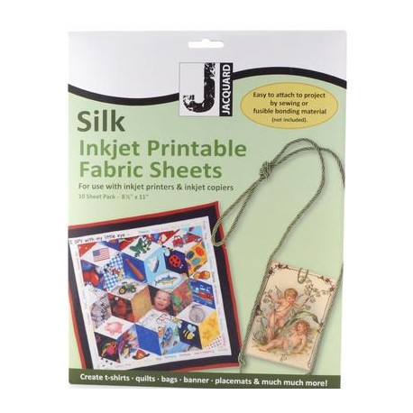 Jacquard Silk Inkjet Printable Fabric Sheets