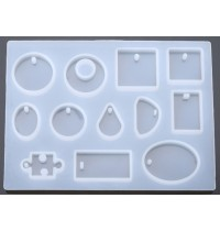 12 Shapes Silicone Resin Mould
