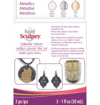 Sculpey Liquid Polymer Clay Metallics Set