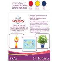 Sculpey Liquid  Bakeable Medium Primary Multipack