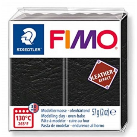 Fimo Leather Effect Black