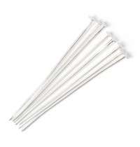 Silver Flat Head Pins 40mm 50 pieces