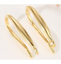 925 Sterling Silver Gold Plated French Hook Earrings 1 pair